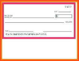 Blank check template word personal printing full photoshots