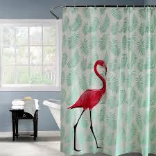 großhandel happy tree peva eco rot flamingo grün blätter duschvorhang verdicken kunststoff matt badezimmer vorhang wasserdicht bad vorhang c18112201