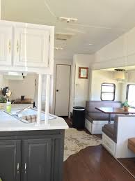 Fifth Wheel Campers With Front Living Rooms by After Our 4 Week Fifth Wheel Makeover Diy Camper Remodel Ideas