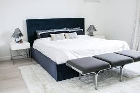 Velvet Headboard King Bed by Interior Bedroom Los Angeles California Duplex Decoration Using