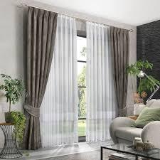 gardinen deko ensemble für ihr wohnzimmer