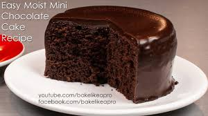 easy moist mini chocolate cake recipe