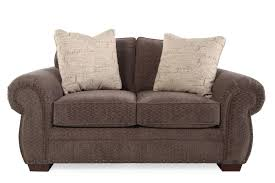 mathis brothers sofa and loveseats chevron transitional 68 loveseat in brown mathis