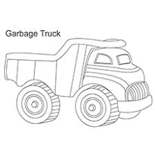 Garbage Collecting Truck Ladder Coloring Page