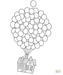 Click The House On Balloons Coloring Pages