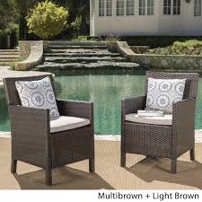 Cypress Outdoor Wicker Dining Chairs With Cushions (Set Of 2) By ... Outdoor Wicker Ding Set Cape Cod Leste 5piece Tuck In Boulevard Ipirations Artiss 2x Rattan Chairs Fniture Garden Patio Louis French Antique White Back Chair Naturally Cane And Plantation Full Round Bay Gallery Store Shop Safavieh Woven Beacon Unfinished Natural Of 2 Pe Bah3927ntx2 Biscayne 7 Pc Alinum Resin Fortunoff Kubu Grey Dark Casa Bella Uk Target Australia Sebesi 2fox1600aset2