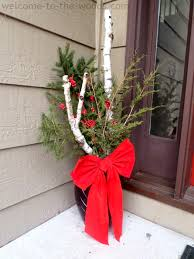 Make A Stunning Everygreen Display For Your Front Porch Or Step By Combining Real Birch Branches
