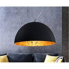 hochwertige design deckenle schwarz gold durchmesser 35 cm pendelleuchte rund hängele led geeignet retro vintage lenschirm für wohnzimmer