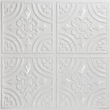 24x24 Pvc Ceiling Tiles by Pvc Surface Mount Tiles Ceiling Tiles The Home Depot