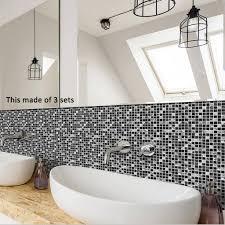 schwarzweiss mosaik fliesen aufkleber küchen badezimmer
