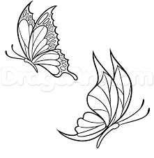 How To Draw Spring Butterflies Step 6