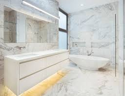 lighten your space and add prestige with marble look ceramic tiles
