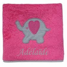 serviettes de bain personnalisées bébé une cuillère pour papa