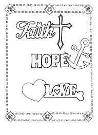 Faith Hope Love Coloring Page Click Here To Download On ETSY