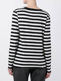 black and white cotton blend striped jumper from levi u0027s women