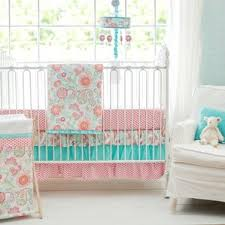 Aqua And Coral Crib Bedding by Baby Bedding For Girls Wayfair