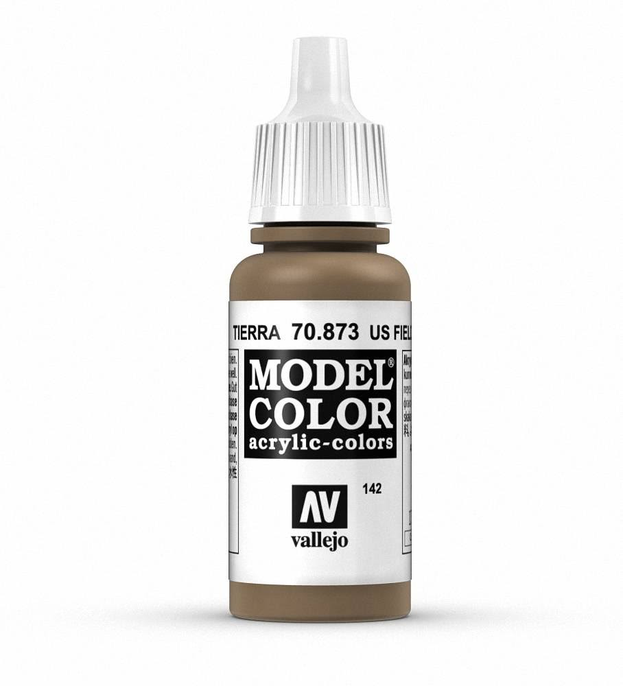 Vallejo Model Colour Acrylic Paint - 17ml, US Field Drab