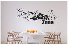 küche esszimmer gourmet zone blumen dekor aufkleber dekor