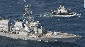 Uss America Sinking Photos by Us Navy Destroyer Collision Near Japan 7 Sailors Missing