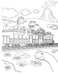 Train Coloring Pages Age Of Dinosaurs