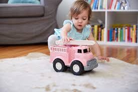 Green Toys CFTP-1199 Fire Truck Vehicle, Pink, 11 X 6.5 X 7.5 ...