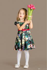 2017 baby dresses girls kids flowers costumes belt