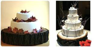 Tree Stump Wedding Cake Stand Sustainable Rustic Wood Stands Thick Slab Trunk Uk