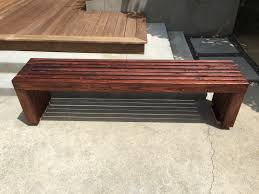 Ana White Headboard Bench by Ana White Modern Slat Top Outdoor Wood Bench Diy Projects