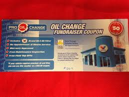 Pro Oil Change Coupon Up For Bids At