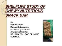 snack bar cuisine shelflife study of chewy nutritious snack bar