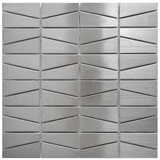 mosaic tile modern trapezoid stainless steel tile emt w1402