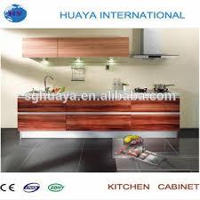 feuille stratifiée armoires de cuisine avec grain de bois mélamine