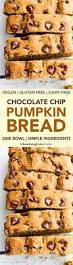 Maine Pumpkin Bread by One Bowl Gluten Free Vegan Pumpkin Chocolate Chip Bread V Gf