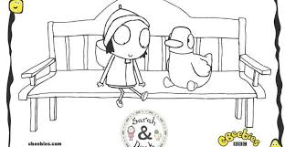 CBeebies Sarah Duck Colouring In Sheets