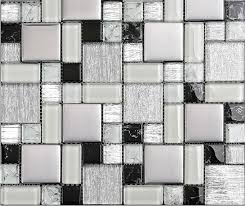 glass mosaic kitchen wall tiles mosaic ssmt115 black and white