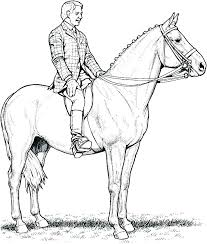 Coloring Pages Of Realistic Horses Horse Jumping