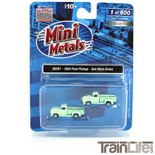 100 N Scale Trucks 1954 Ford Pickup Truck Sea Haze Green 2 Pack