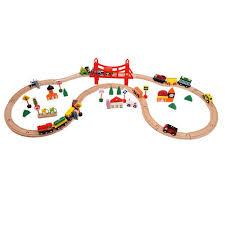 2017 kids gifts wooden train tracks toys children car toys set