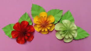 How To Make Flower With Color Paper