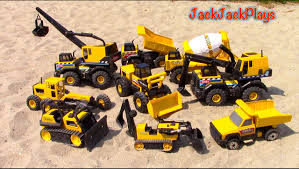 Construction Vehicles For Kids - Tonka Steel Truck Collection ...