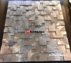 brushed silver metal mosaic kitchen wall tile backsplash smmt114