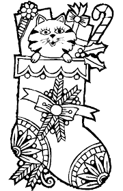 Christmas Kitty Coloring Pages Item 5910