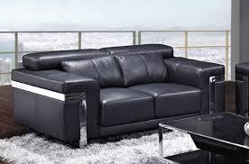 canap 2 places cuir noir canapé 2 places en cuir italien astoria noir mobilier privé