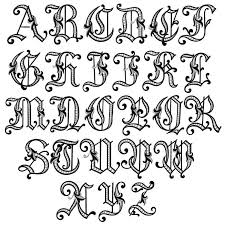 Calligraphy Alphabet Old English 6 Victorian Font Examples