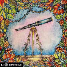 Telescope Enchanted Forest EnchanteColoring BooksColouringJohanna