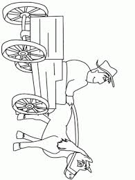 Cablecar Transportation Coloring Pages Farmer2 People