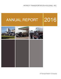100 Patriot Trucking Transportation Holding Inc Annual Report 2016