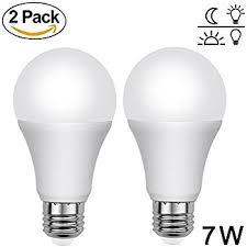 dusk to light bulb savvypixel 7w e26 smart sensor led bulb
