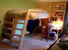 Plans For Building A Full Size Loft Bed by Wonderful How To Build A Loft Bed With Desk 98 For Layout Design
