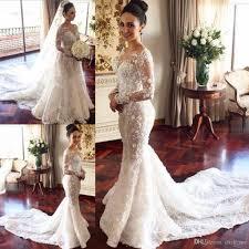 mermaid style wedding dresses with long sleeves style berta